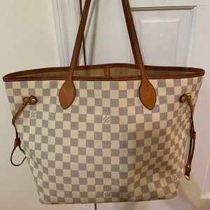 Neverfull MM Damier Azur canvas 100% authentic.